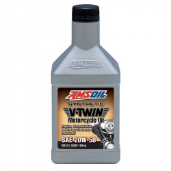 AMSOIL SYNTHETIC V-TWIN MOTORCYCLE OIL 20W50